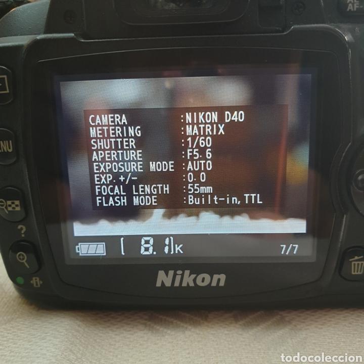 Cámara de fotos: CAMERA NIKON D40 AF-S NIKKOR 18-55 - Foto 6 - 293671713