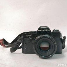 Cámara de fotos: CAMARA PENTAX SUPER A. AUTOMATICA. AUTOFOCO. LENTE 50MM F 1.7. MUY BUEN ESTADO. FUNCIONANDO. Lote 293726373