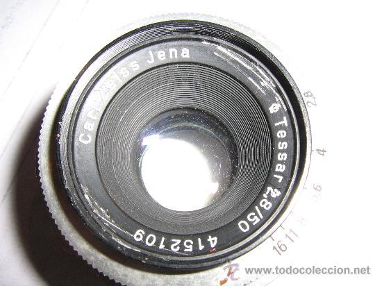 ROSCA M42 TESSAR CROMADO 2,8/50 MM. (Cámaras Fotográficas - Réflex (no autofoco))