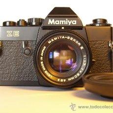 Cámara de fotos: MAMIYA ZE + OBJETIVO MAMIYA - FUNCIONANDO Y EN EXCELENTE ESTADO.-. Lote 27506036