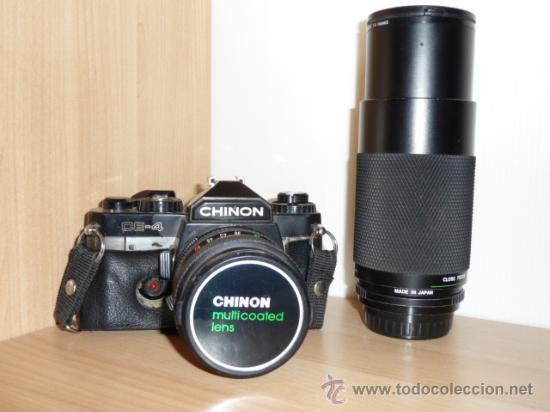 CHINON CE-4 CON OBJETIVO DE 28-50 MM. + OBJETIVO CHINON 80-200 MM. (AÑO 1985) (Cámaras Fotográficas - Réflex (no autofoco))