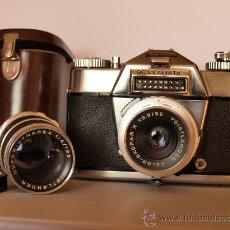 Cámara de fotos: VOIGTLANDER BESSAMATIC DE LUXE + SUPER DYNAREX 1:4/135 - FUNCIONANDO Y EN EXCELENTE ESTADO-PRECIOSA. Lote 27501118