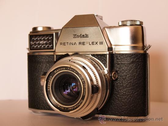 KODAK RETINA REFLEX III + GUIA INSTRUCCIONES ORIGINAL / FUNCIONANDO Y EN EXCELENTE ESTADO (Cámaras Fotográficas - Réflex (no autofoco))