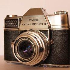 Cámara de fotos: KODAK RETINA REFLEX III + GUIA INSTRUCCIONES ORIGINAL / FUNCIONANDO Y EN EXCELENTE ESTADO. Lote 26989513