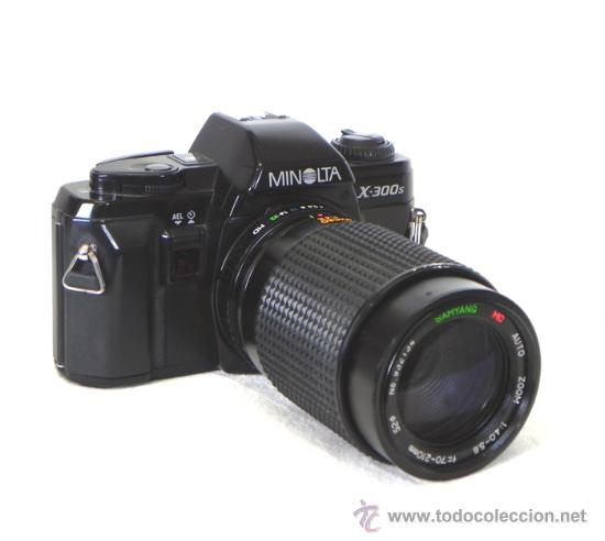 CÁMARA FOTOS RÉFLEX MINOLTA X-300 S OBJETIVO SAMYANG 70 210 FOTOGRAFÍA FOTOGRÁFICA X 300 MÁQUINA (Cámaras Fotográficas - Réflex (no autofoco))