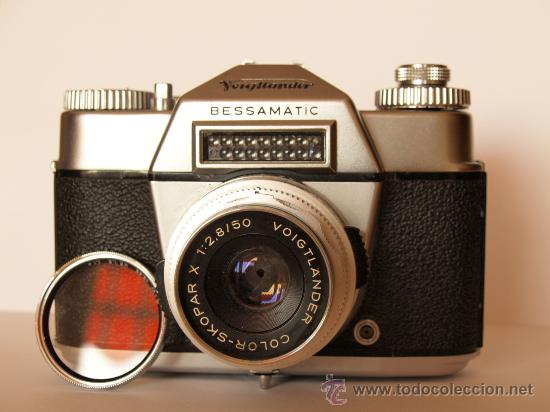 VOIGTLANDER BESSAMATIC + OBJETIVO SKOPAR X 2.8/50MM / EXCELENTE ESTADO (Cámaras Fotográficas - Réflex (no autofoco))