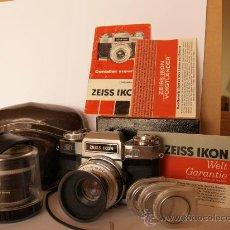 Cámara de fotos: ZEISS IKON CONTAFLEX SUPER BC + FUNDA + PRO-TESSAR 35MM 3.2 + GUIA / EXCELENTE ESTADO Y FUNCIONANDO. Lote 27107242