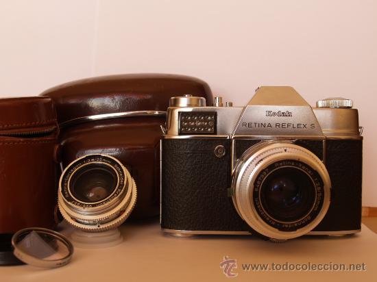 KODAK RETINA REFLEX S + FUNDA + OBJETIVO 50MM / 2.8 + FILTROS / FUNCIONANDO Y EN EXCELENTE ESTADO (Cámaras Fotográficas - Réflex (no autofoco))