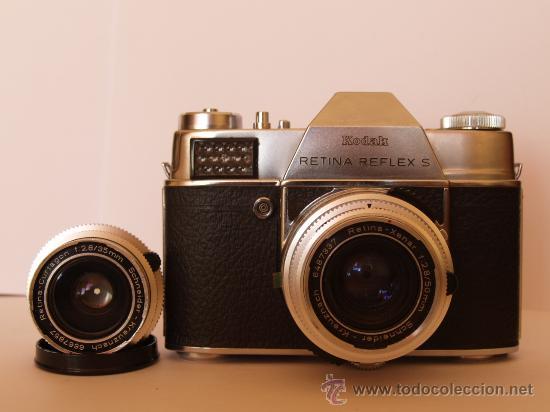 Cámara de fotos: KODAK RETINA REFLEX S + FUNDA + OBJETIVO 50mm / 2.8 + FILTROS / FUNCIONANDO Y EN EXCELENTE ESTADO - Foto 2 - 27107707