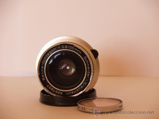 Cámara de fotos: KODAK RETINA REFLEX S + FUNDA + OBJETIVO 50mm / 2.8 + FILTROS / FUNCIONANDO Y EN EXCELENTE ESTADO - Foto 7 - 27107707