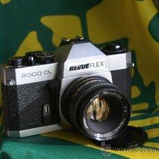 Cámara de fotos: REVUEFLEX 2000 CL + 50MM F:2 + ESTUCHE DE CUERO. Lote 30417888