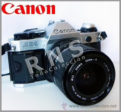 CÁMARA DE FOTOS CANON AE-1 PROGRAM RÉFLEX + OBJETIVO SIGMA 28 70 FOTOGRÁFICA FOTOGRAFÍA MÁQUINA AE1 (Cámaras Fotográficas - Réflex (no autofoco))