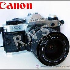 Cámara de fotos: CÁMARA DE FOTOS CANON AE-1 PROGRAM RÉFLEX + OBJETIVO SIGMA 28 70 FOTOGRÁFICA FOTOGRAFÍA MÁQUINA AE1. Lote 32563955