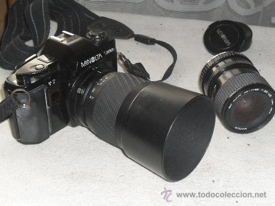 CAMARA FOTOGRAFICA MINOLTA MODELO X-300S + OBJETIVO 28-70 MM + ZOMM SIGMA 70-210 MM +FUNDA - (Cámaras Fotográficas - Réflex (no autofoco))