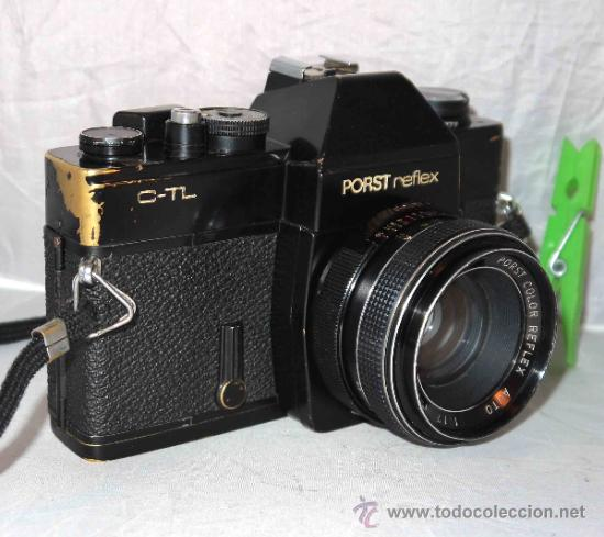 Cámara de fotos: EXCELENTE CAMARA REFLEX..JAPON 1975..PORST REFLEX C-TL NEGRA+PORST COLOR 1,7....FUNCIONA - Foto 2 - 31528655