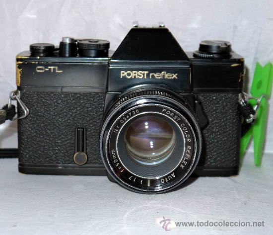Cámara de fotos: EXCELENTE CAMARA REFLEX..JAPON 1975..PORST REFLEX C-TL NEGRA+PORST COLOR 1,7....FUNCIONA - Foto 3 - 31528655