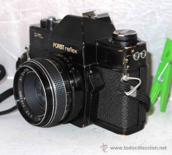 Cámara de fotos: EXCELENTE CAMARA REFLEX..JAPON 1975..PORST REFLEX C-TL NEGRA+PORST COLOR 1,7....FUNCIONA - Foto 4 - 31528655