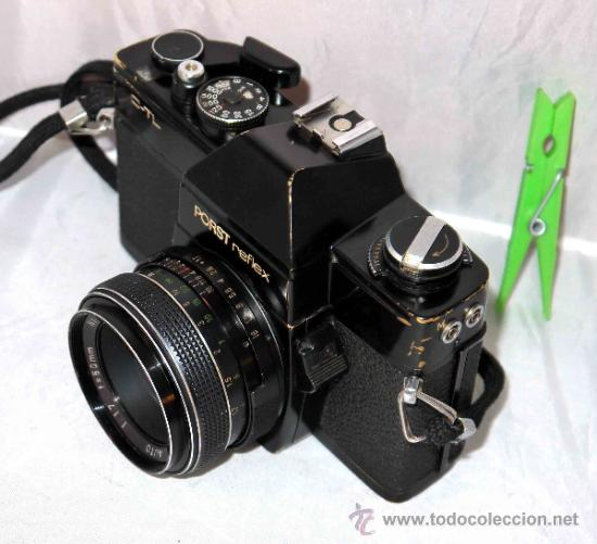 Cámara de fotos: EXCELENTE CAMARA REFLEX..JAPON 1975..PORST REFLEX C-TL NEGRA+PORST COLOR 1,7....FUNCIONA - Foto 12 - 31528655