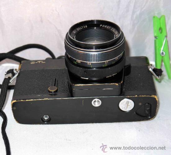 Cámara de fotos: EXCELENTE CAMARA REFLEX..JAPON 1975..PORST REFLEX C-TL NEGRA+PORST COLOR 1,7....FUNCIONA - Foto 16 - 31528655