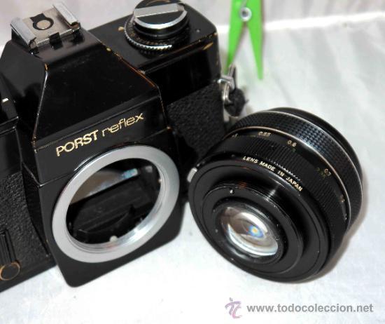 Cámara de fotos: EXCELENTE CAMARA REFLEX..JAPON 1975..PORST REFLEX C-TL NEGRA+PORST COLOR 1,7....FUNCIONA - Foto 22 - 31528655
