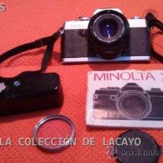 Cámara de fotos: MINOLTA XG-1 OBJETIVO ROKKOR 45MM F 1:2 Y PROTECTOR DE LENTE CON AUTO WINDER G MINOLTA ORIGINAL. Lote 31557321