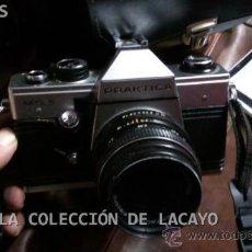 Cámara de fotos: EQUIPO PRAKTICA MTL 5 CON 2 OBJETIVOS Y UN GRAN ANGULAR - DISPARADOR Y MACUTO. Lote 32575762