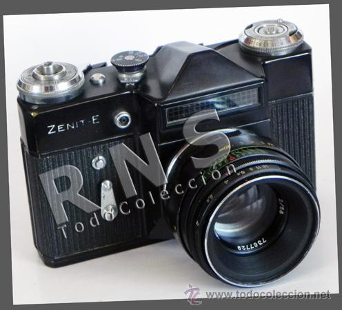 CÁMARA FOTOS RÉFLEX ZENIT-E + OBJETIVO HELIOS - FOTOGRÁFICA FOTOGRAFÍA - HECHA EN URSS MÁQUINA ZENIT (Cámaras Fotográficas - Réflex (no autofoco))