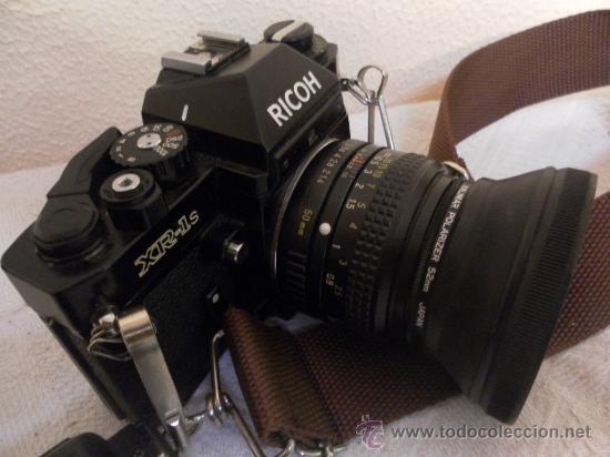 Cámara de fotos: Cámara fotográfica Ricoh, Fabricada en Japón. Con objetivo, flash y funda. - Foto 5 - 34652117