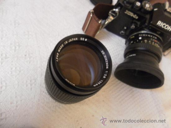 Cámara de fotos: Cámara fotográfica Ricoh, Fabricada en Japón. Con objetivo, flash y funda. - Foto 16 - 34652117