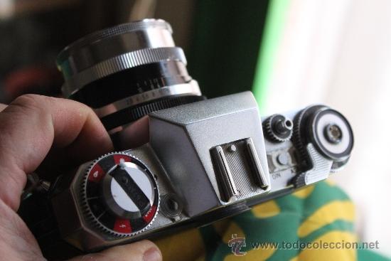 Cámara de fotos: Zeiss Ikon Icarex 35S + Tessar F:2,8 y funda de cuero. - Foto 3 - 35641639