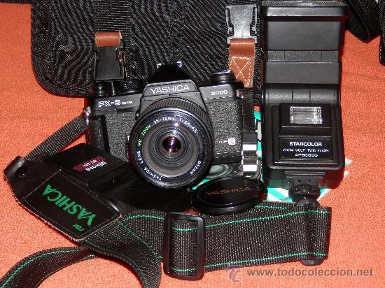 LOTE CAMARA YASHICA FX 3 SUPER 2000. VER DESCRIPCION (Cámaras Fotográficas - Réflex (no autofoco))