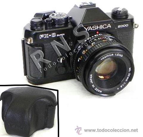 CÁMARA DE FOTOS RÉFLEX YASHICA FX3 SUPER 2000 + FUNDA + OBJETIVO FOTOGRÁFICA FOTOGRAFÍA FX 3 MÁQUINA (Cámaras Fotográficas - Réflex (no autofoco))