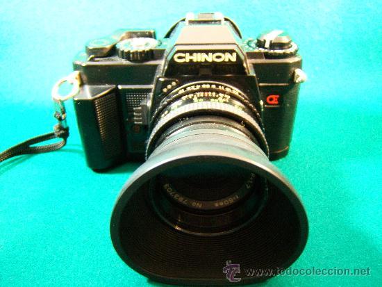 Cámara de fotos: CAMARA FOTOGRAFICA CHINON CE5 - REFLEX - OBJETIVO COSINON 1,7.50MM - PARASOL - FUNCIONA - AÑO 1985. - Foto 4 - 36888533
