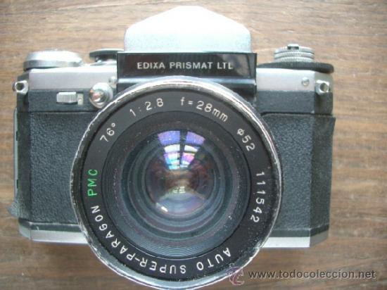 CÁMARA EDIXA PRISMAT LTL + OBJETIVO SUPER-PARAGON 1:2.8 28MM MONTURA M42 (Cámaras Fotográficas - Réflex (no autofoco))