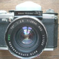 Cámara de fotos: CÁMARA EDIXA PRISMAT LTL + OBJETIVO SUPER-PARAGON 1:2.8 28MM MONTURA M42. Lote 38190763