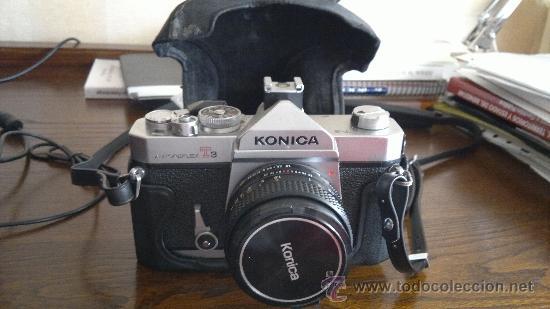 KONICA AUTOREFLEX T3 + OBJETIVO HEXANON 50MM F:1,8 (Cámaras Fotográficas - Réflex (no autofoco))