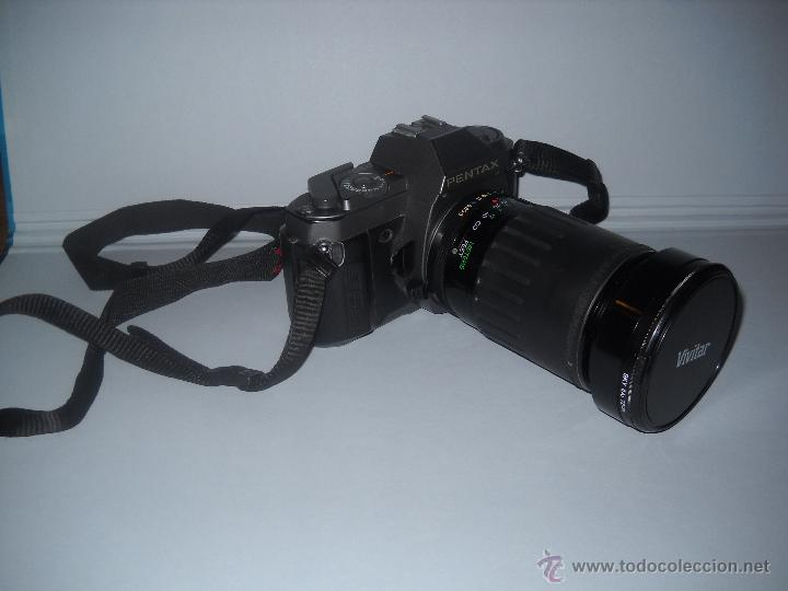 PENTAX P30-T CON OBJETIVO 72 MM VIVITAR 28-210 MACRO FOCUSING ZOOM. (Cámaras Fotográficas - Réflex (no autofoco))