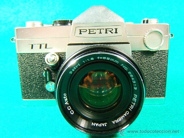 PETRI TTL-REFLEX CON OBJETIVO PETRI CC AUTO 1:1,8-F=55MM-ASA 25-1600-1 SEG. A 1.000-CAMARA FOTOS... (Cámaras Fotográficas - Réflex (no autofoco))