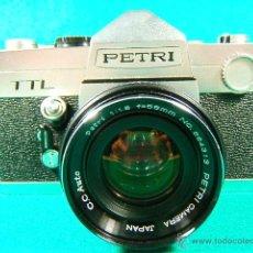 Cámara de fotos: PETRI TTL-REFLEX CON OBJETIVO PETRI CC AUTO 1:1,8-F=55MM-ASA 25-1600-1 SEG. A 1.000-CAMARA FOTOS... . Lote 79945067