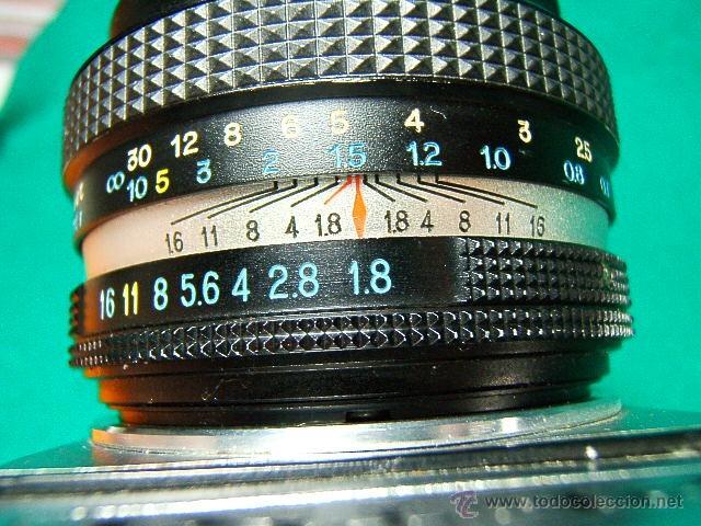 Cámara de fotos: PETRI TTL-REFLEX CON OBJETIVO PETRI CC AUTO 1:1,8-F=55MM-ASA 25-1600-1 SEG. A 1.000-CAMARA FOTOS... - Foto 5 - 79945067