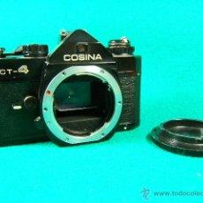 Cámara de fotos: COSINA CT 4-REFLEX SIN OBJETIVO-MADE IN JAPAN-ASA 25 A 3.200-8 FALTA ALGUNA PIEZA-NO FUNCIONA-CAMARA. Lote 71821223