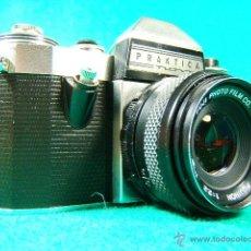 Cámara de fotos: PRAKTICA NOVA-GERMANY-OBJ:FUJINON 1:2,2-55 MM-FUJI JAPAN-REFLEX Y OBJETIVO ROSCA UNIVERSAL-CAMARA.... Lote 40943148