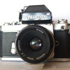 Cámara de fotos: NIKON F2 + PHOTOMIC DP1 + OBJETIVO / EXCELENTE ESTADO Y FUNCIONANDO. Lote 66979422