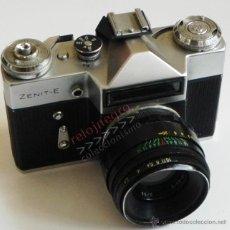 Cámara de fotos: ZENIT-E CÁMARA DE FOTOS Y OBJETIVO HELIOS FABRICADA EN URSS FOTOGRAFÍA FOTOGRÁFICA MÁQUINA VINTAGE. Lote 42185001