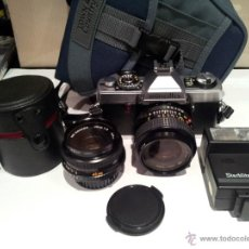 Cámara de fotos: ANTIGUA CAMARA DE FOTOS MINOLTA XG 1 CON FLAX Y OBJETIVO BUENISIMO ESTADO. Lote 42631092