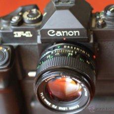 Cámara de fotos: CANON F1 NEW+MOT DRIVE + 50 1,4 FD SC.PERFECTA. Lote 43729377