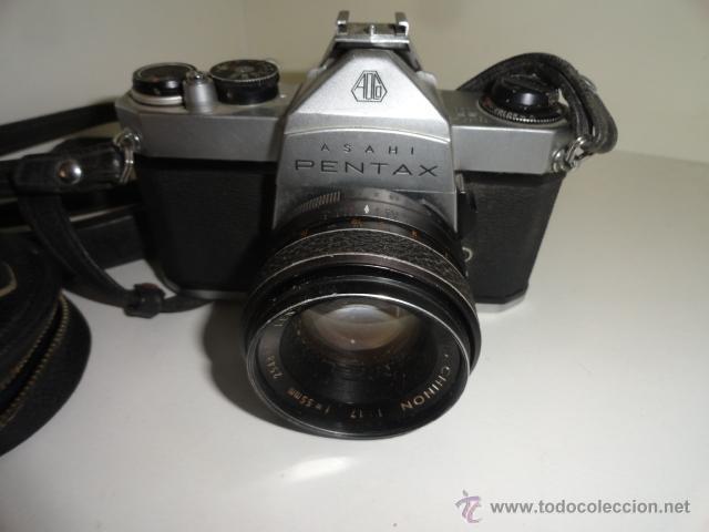 Cámara de fotos: REFLEX ASAHI PENTAX SP 1000 CON 2 OBJETIVOS ZOOM SIGMA 80-200 MM.Y CHINION 1/17 55MM - Foto 4 - 43853484