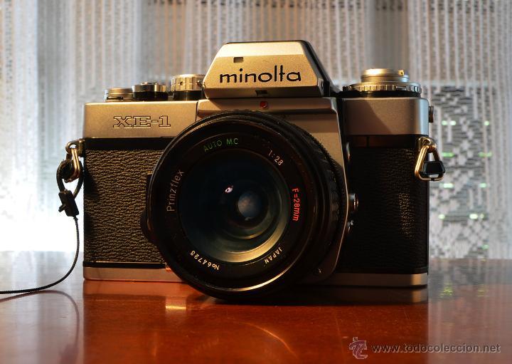 MINOLTA XE-1 + PRINZFLEX 28/2.8 +ADAPTADOR ROSCA M42 A MINOLTA (Cámaras Fotográficas - Réflex (no autofoco))