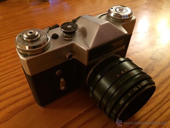 Cámara de fotos: Camara Zenit 3EHNT original Vintaje cámara URSS RUSIA en funda original - Foto 3 - 46247475