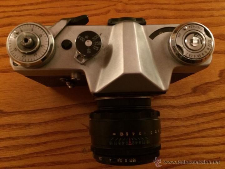 Cámara de fotos: Camara Zenit 3EHNT original Vintaje cámara URSS RUSIA en funda original - Foto 8 - 46247475
